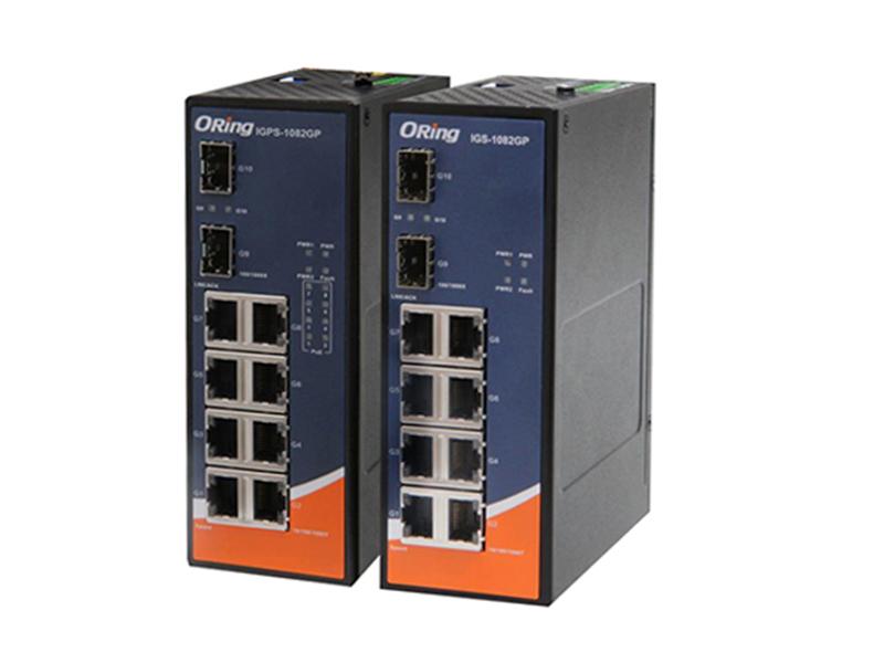 ORing IGPS 1082GP 24V Endüstriyel PoE Switch