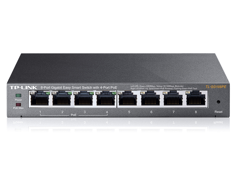 TP-LINK TL SG108PE 10/100/1000 PoE Switch
